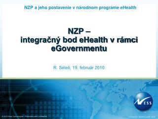 NZP –  integračný bod eHealth v rámci eGovernmentu