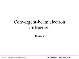 Convergent-beam electron diffraction