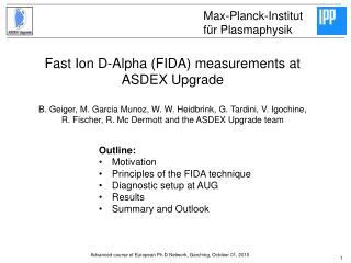 Fast Ion D-Alpha (FIDA) measurements at ASDEX Upgrade