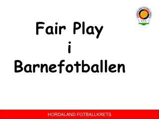 Fair Play  i  Barnefotballen