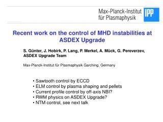 Recent work on the control of MHD instabilities at  ASDEX Upgrade