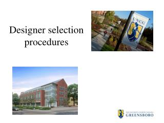Designer selection procedures