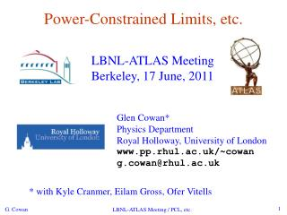 Power-Constrained Limits, etc.