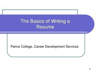 Peirce College, Career Development Services