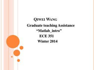 Qiwei  Wang