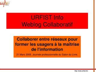 URFIST Info Weblog Collaboratif