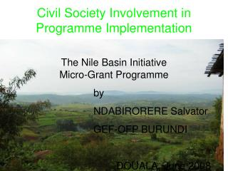 Civil Society Involvement in Programme Implementation