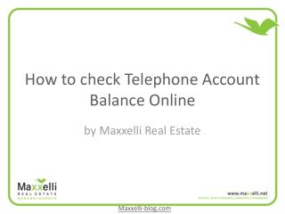 How to check telephone account balance