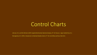 Variation and Control Charts   An Overview