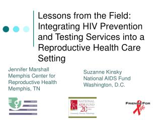Jennifer Marshall Memphis Center for  Reproductive Health Memphis, TN
