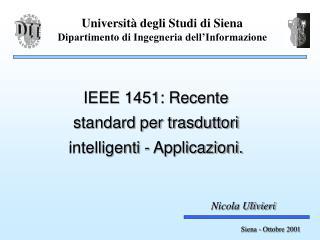 Università degli Studi di Siena Dipartimento di Ingegneria dell'Informazione