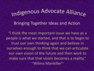 Indigenous Advocate Alliance