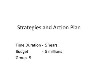 Strategies and Action Plan