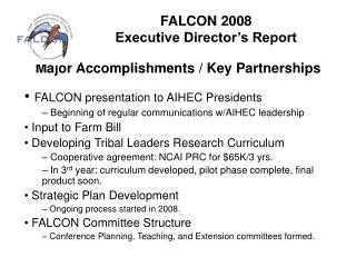 FALCON 2008  Executive Director's Report