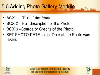 5.5 Adding Photo Gallery Module