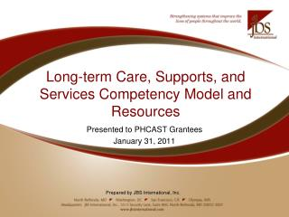 Long-term Care, Supports, and Services Competency Model and Resources