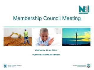 Membership Council Meeting
