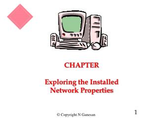 CHAPTER  Exploring the Installed Network Properties