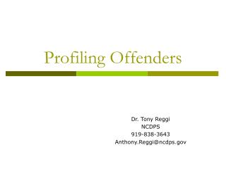Profiling Offenders