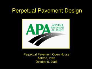 Perpetual Pavement Design