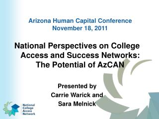 Arizona Human Capital Conference November 18, 2011