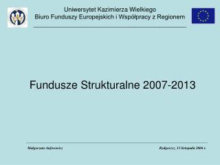 Fundusze Strukturalne 2007-2013