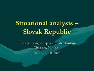 Situational analysis – Slovak Republic