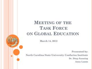Meeting of the  Task Force  on Global Education