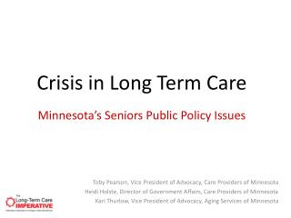 Minnesota's Seniors Public Policy Issues