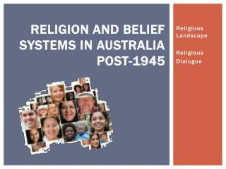 Religion and Belief Systems in Australia post-1945