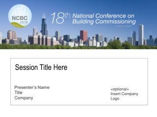 Presenter�s Name Title Company