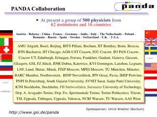 PANDA Collaboration