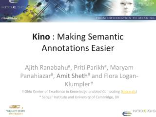 Kino  : Making Semantic Annotations Easier