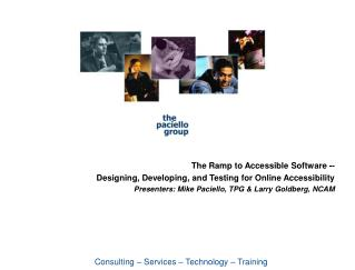 The Ramp to Accessible Software -- Designing, Developing, and Testing for Online Accessibility