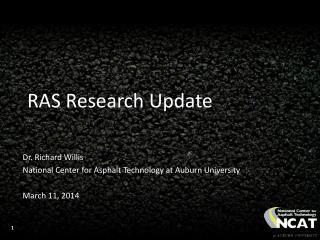 RAS Research Update