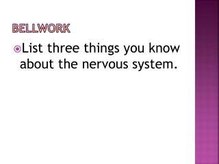 Peripheral nervous system--autonomic nervous division