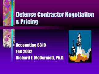 Defense Contractor Negotiation  Pricing