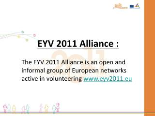 EYV 2011 Alliance :