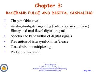 Chapter 11.  Sampling and Pulse Modulation