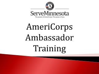 AmeriCorps  Ambassador Training