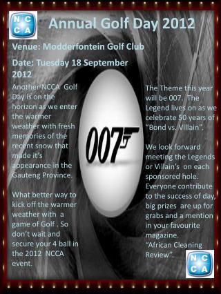 Annual Golf Day  2012