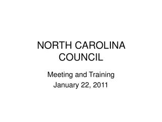 NORTH CAROLINA COUNCIL