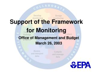 Support of the Framework for Monitoring