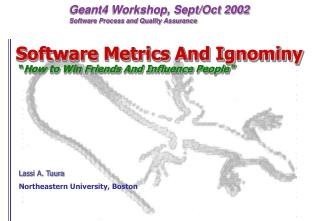 "Software Metrics And Ignominy  "" How to Win Friends And Influence People"""
