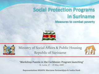 Social Protection Programs in Suriname Measures to combat poverty