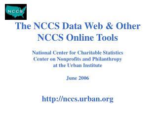 NCCS Data Goals