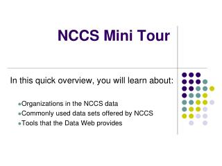 NCCS Mini Tour