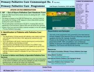 1. GP → Out of Hours Palliative Care Handover Form