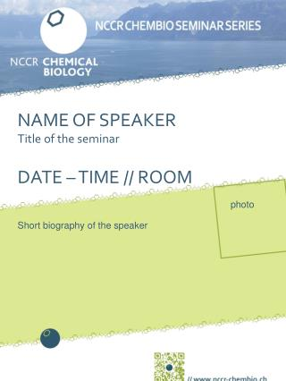 NAME OF SPEAKER