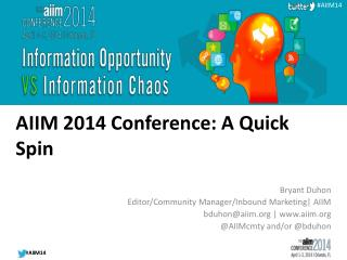 AIIM 2014 Conference: A Quick Spin